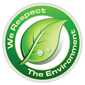 we respect the environment logo